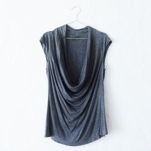 Fendi Grey Rayon Knit Cowl Neck Too